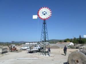 Normal rüzgar alan havada günlük 10 – 15 ton arası su çekip-bunu pompalayabiliyor.Normal üzeri rüzgarlı havalarda ise 25-30 tona kadar suyu çekip pompalayabiliyor